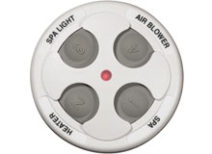 Spa Side Remote Jandy 4 Function 200 ft. White 7445